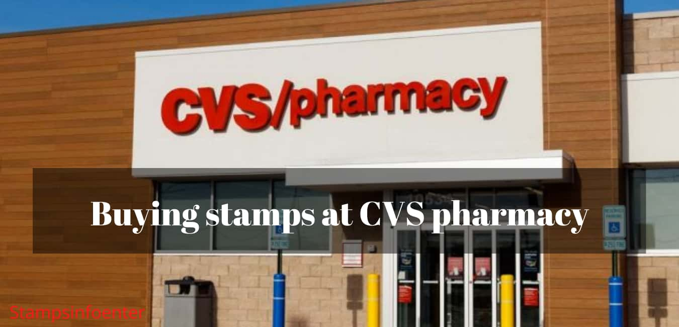 Buying stamps at CVS pharmacy