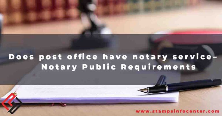 Does post office have notary service