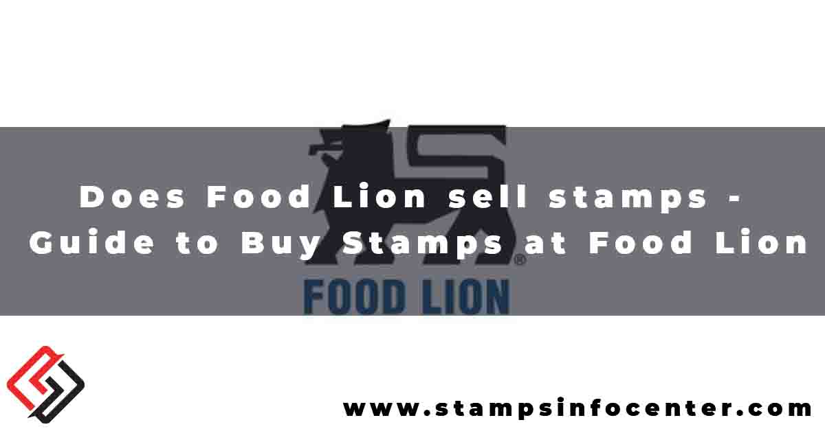 Does Food Lion sell stamps