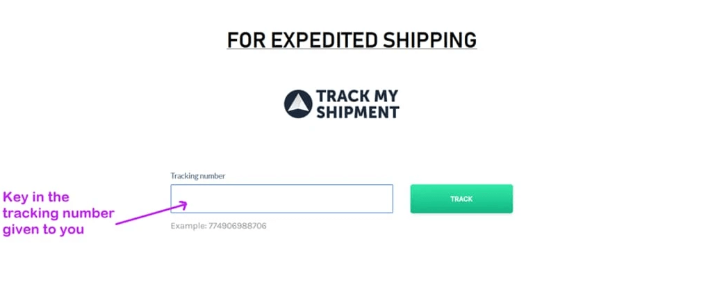 Can I track my package with expedited shipping