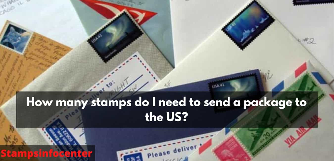 How many stamps do I need to send a package to the US