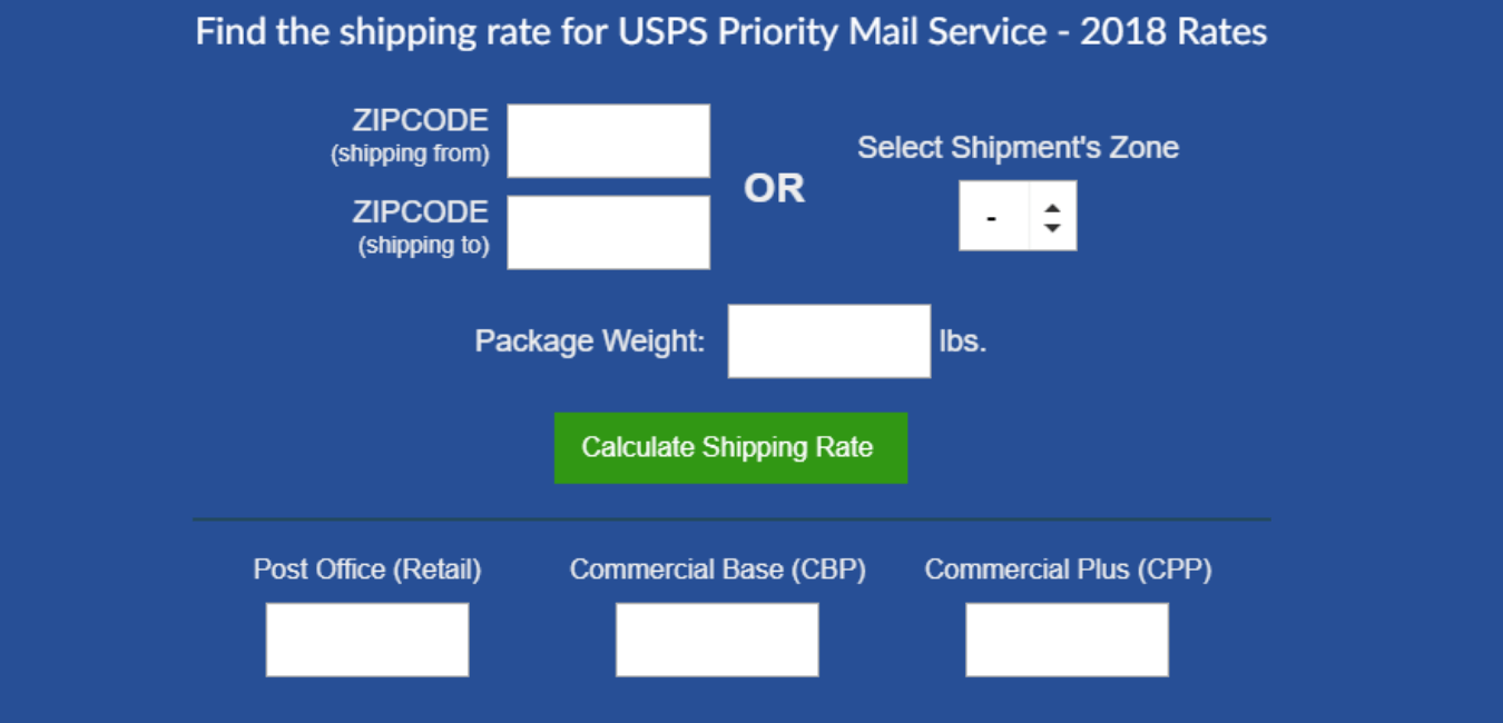 How to Calculate the Weight and Cost of the Mail Item