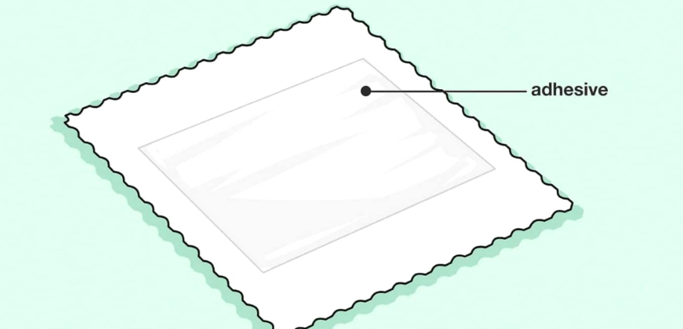 How to remove a self-adhesive no-lick stamp