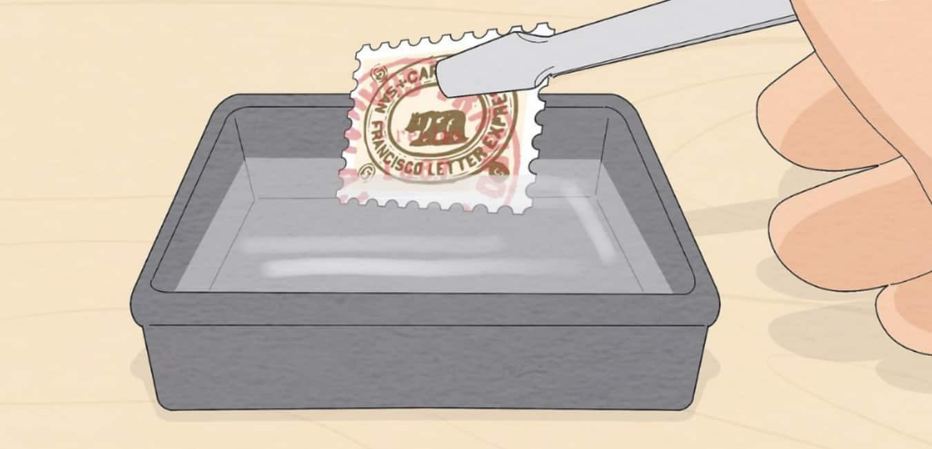 How to remove a traditional stamp