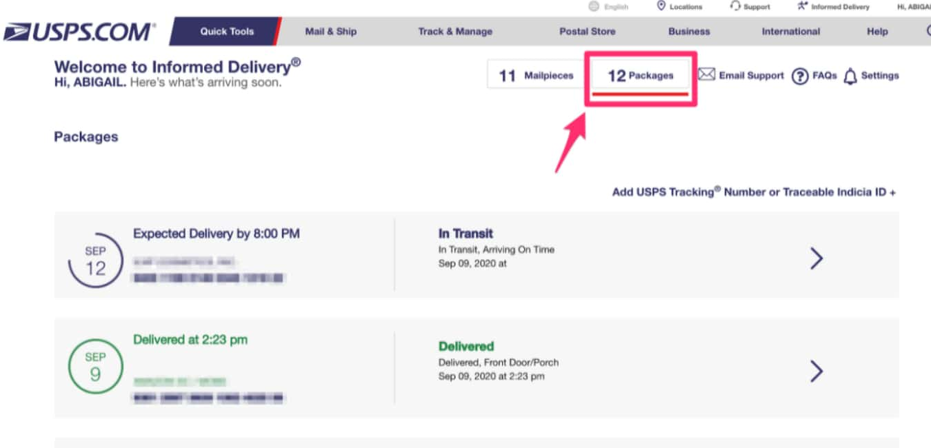 How to track your USPS package