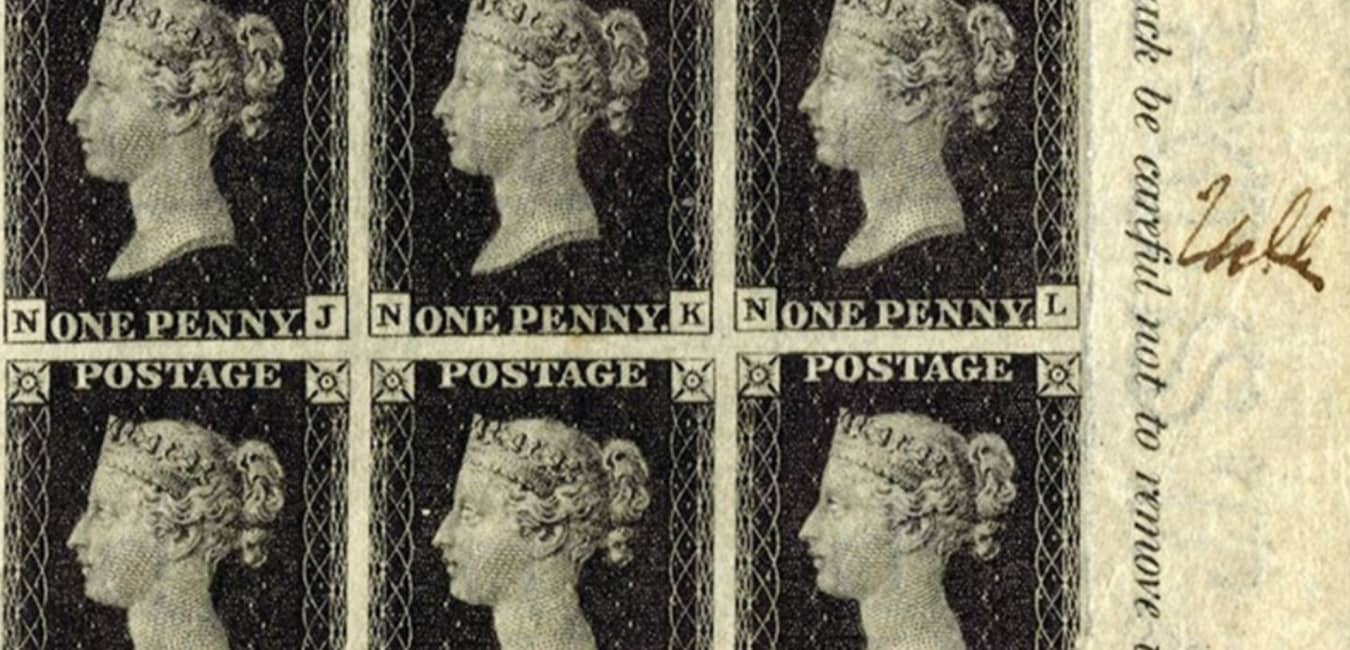 Penny Black First Modern Postage Stamp