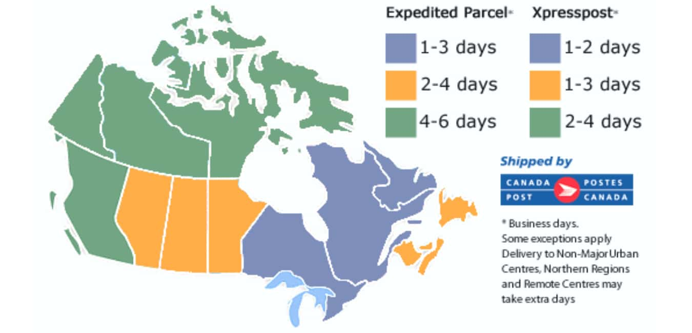 Delivery Times to Canada